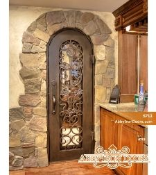 WIne cellar door 30\ x80\  oil rubbed bronze / glass & WIne cellar door 30\