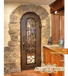 WIne cellar door 30 x80  oil rubbed bronze / glass & WIne cellar door 30