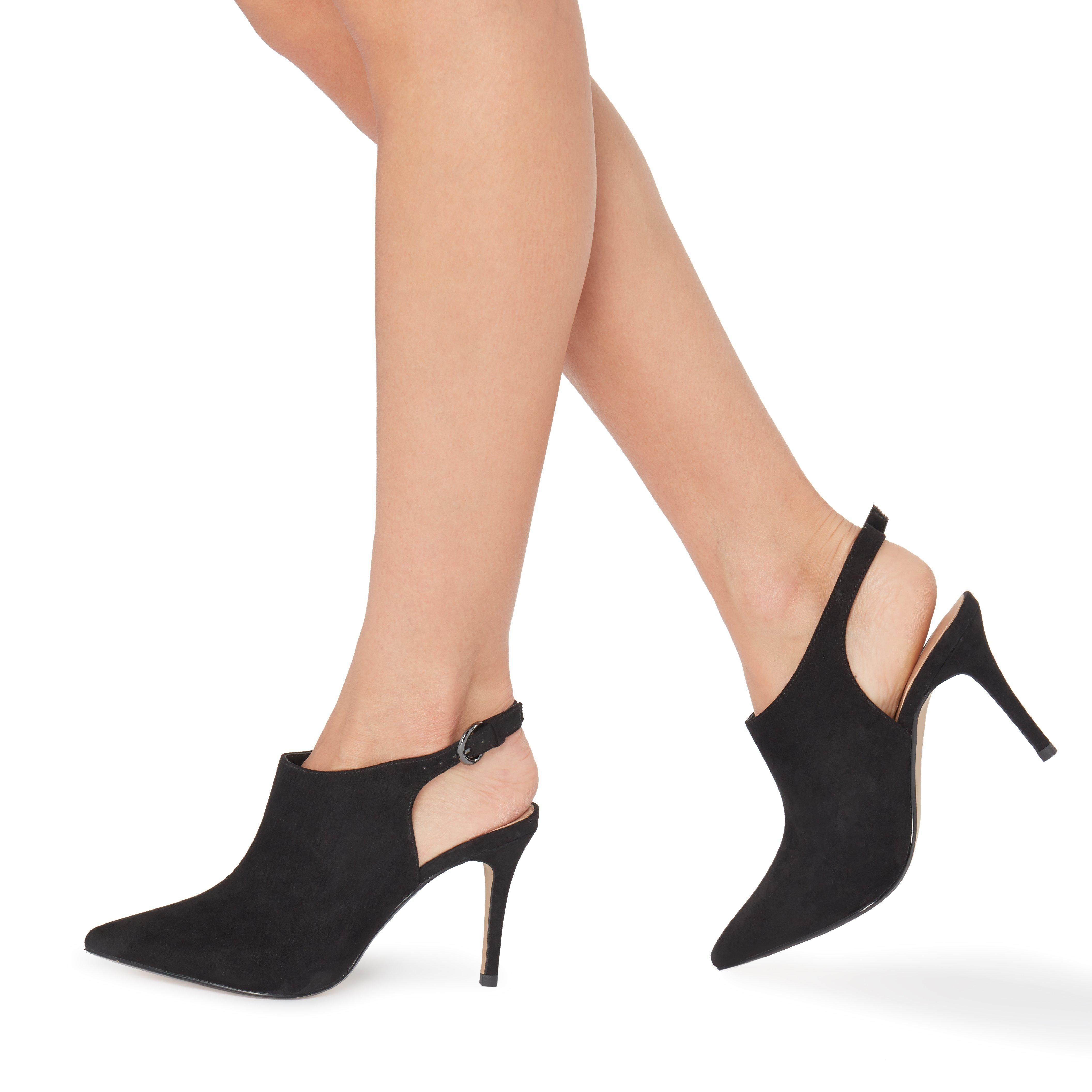 edc2065b7d454e CALII - Chaussures à bout pointu avec bride arrière - noir | Dune London