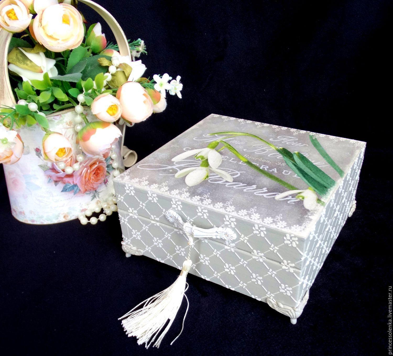 Купить «Весенняя нежность» Шкатулка для украшений, чая, рукоделия - винтаж, шебби-шик, шебби шик