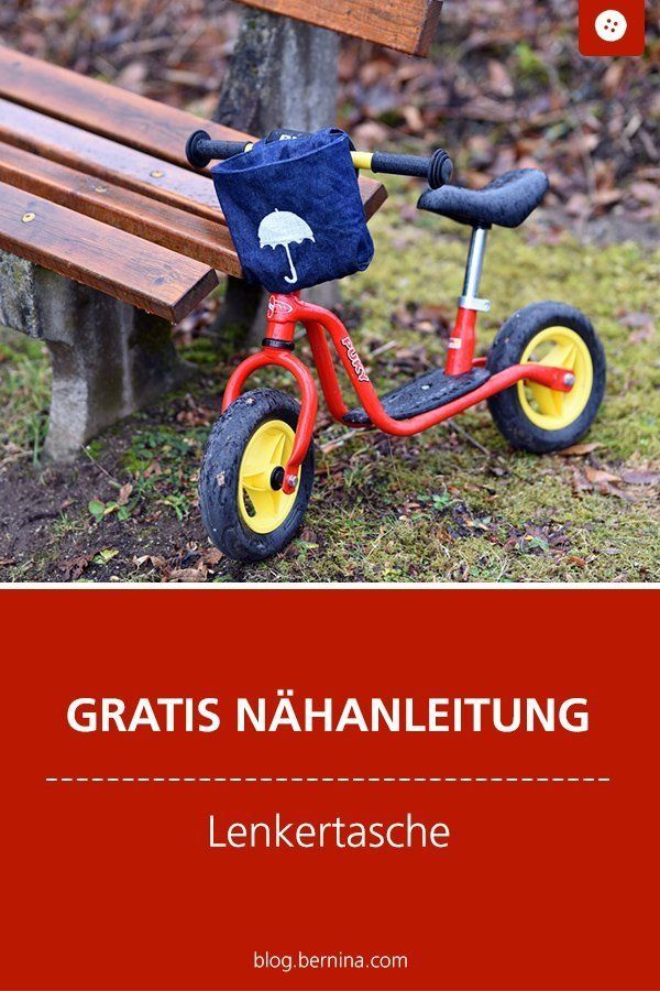 Eine Lenkertasche aus Jeans mit Reflektorgarn » BERNINA Blog – Nähideen für Kinder