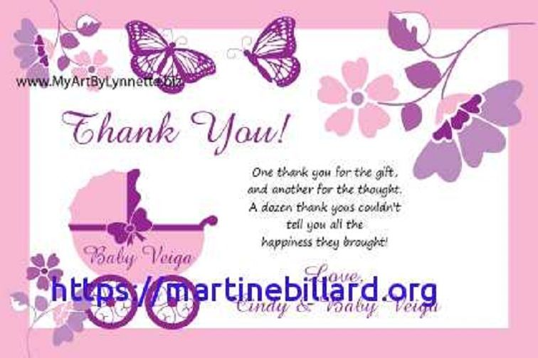 Baby Shower Thank You Cards Message Baby Shower Host Baby