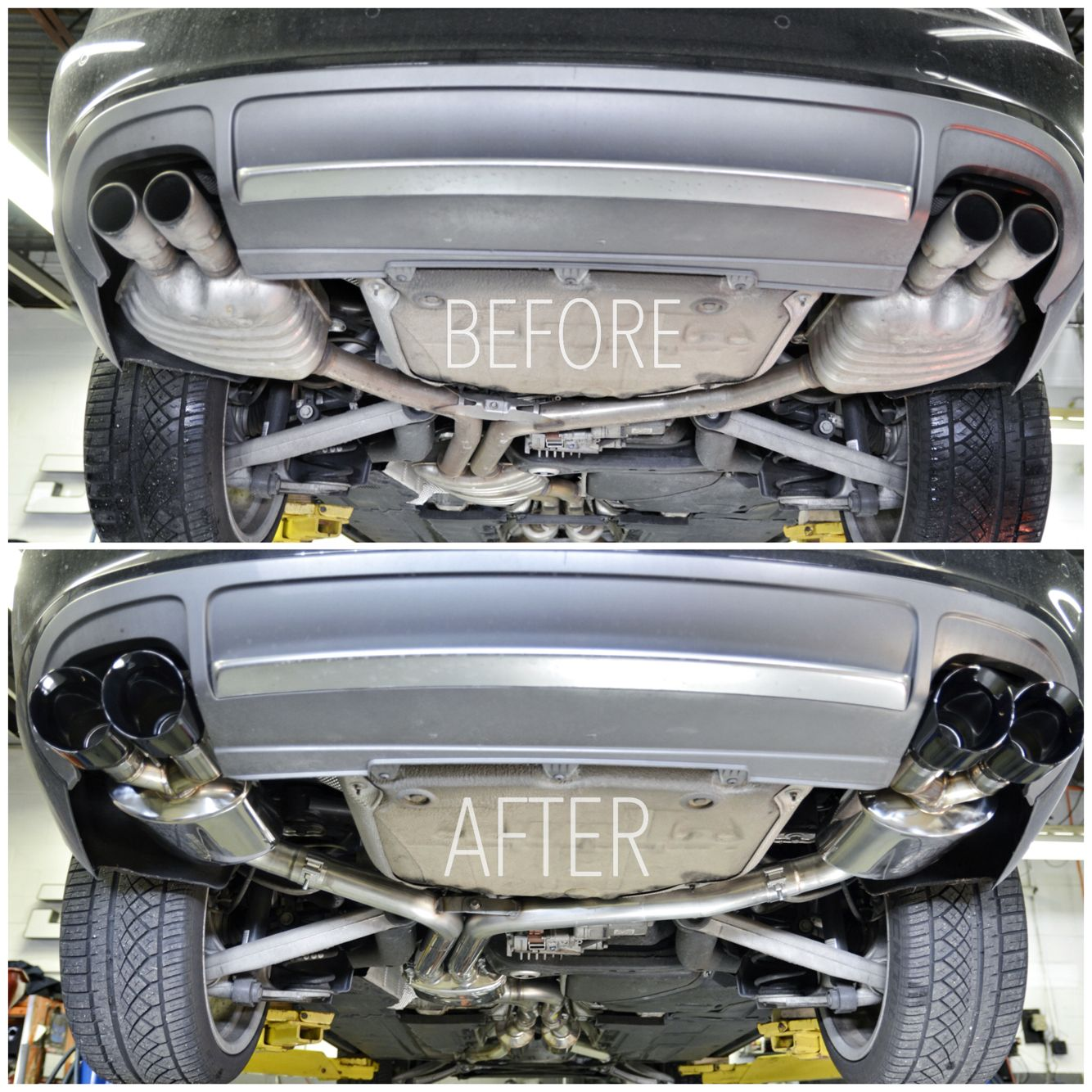 Audi B8 S4 Getting A Full Awetuningofficial Full Exhaust Getting A Trackedition With Res Downpipes And Blackdiamond Tips Audis4 S4 Audi S4 Audi Tri