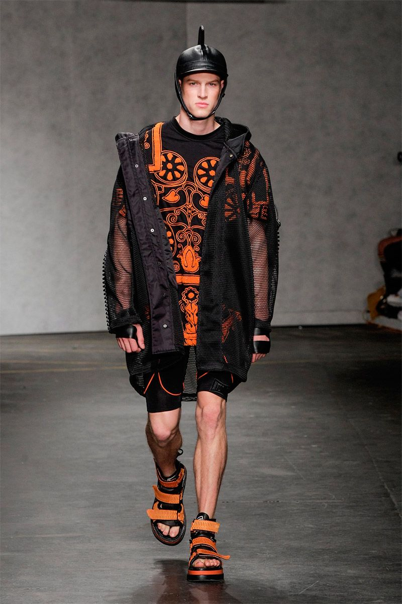 KTZ Presented A Spring Summer 2015 Streetwear Collection With Strong Influences From Ancient Warriors During London Collections Men