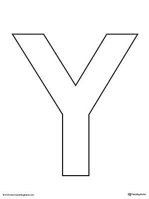 letter y template printable  Uppercase Letter Y Template Printable | Alphabet templates ...