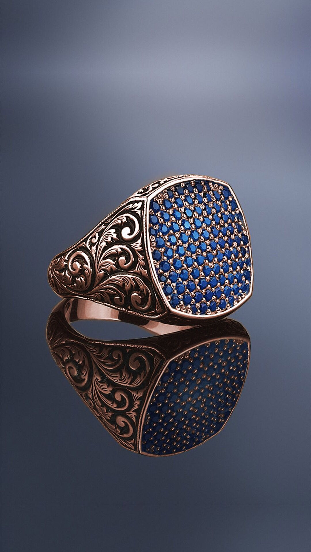 Classic Cushion Pave Ring – Solid Gold