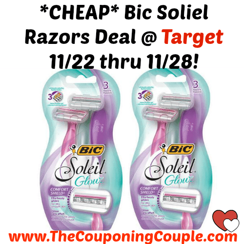 AWESOME DEAL ~ GET YOUR COUPONS! *CHEAP* Bic Soliel Razors Deal @ Target ~ Starting 11/22!  Click the link below to get all of the details ► http://www.thecouponingcouple.com/cheap-schick-silk-effects-razor-deal-dollar-general-only-0-75/ #Coupons #Couponing #CouponCommunity  Visit us at http://www.thecouponingcouple.com for more great posts!