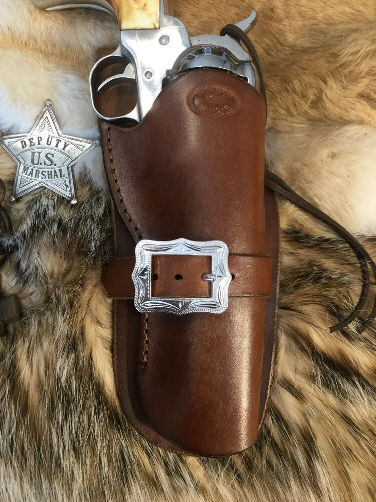 """Leather Western Cowboy Holster For 5 1/2"""" Ruger Vaquero, SAA"""