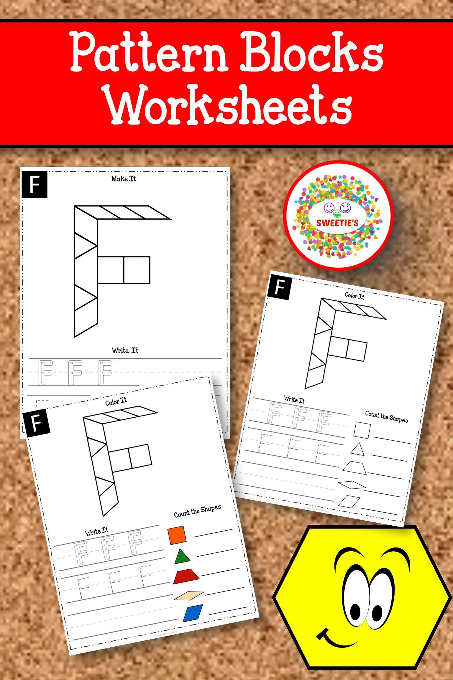 Alphabet Pattern Blocks Mats Upper Case