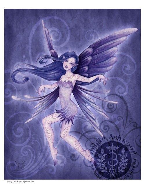 Fantasy Art: Fairies, Artist: Brigid Ashwood, Title: Windy