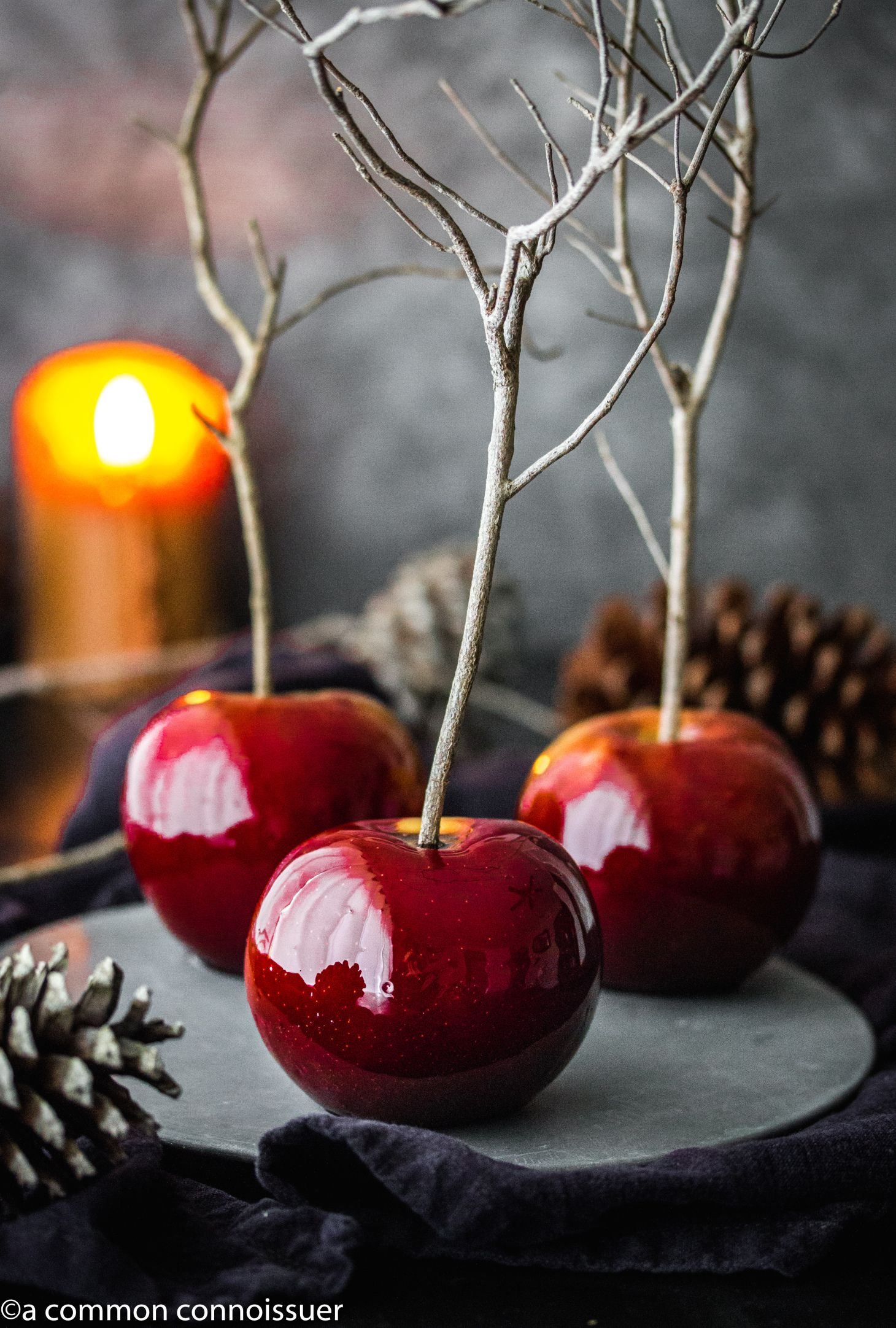 IMG_4190 Cinnamon twists, Candy apples, Halloween apples
