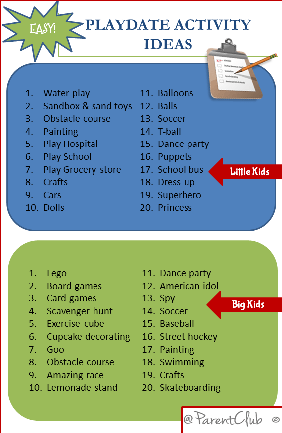 Easy Playdate Activity Ideas