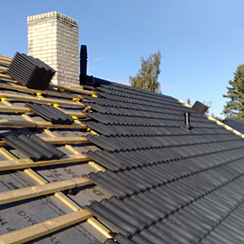 Ein Dach Gedeckt Mit Morepast Dachziegeln Dachziegel Dach Ziegel