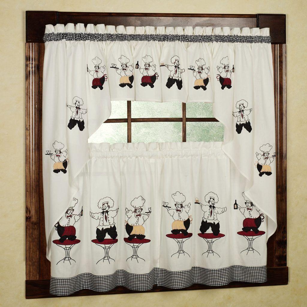 Chef kitchen decor curtains avhts pinterest kitchens