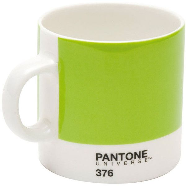 Pantone Espresso Cup Mushy Pea 376 (€10) ❤ liked on Polyvore featuring home, kitchen & dining, drinkware, green and everyday drinkware
