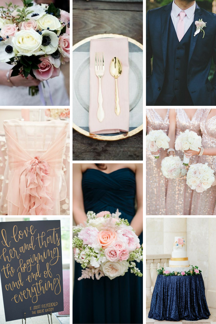 Navy Blush Gold Wedding Inspiration Burgh Brides A Pittsburgh Wedding Blog Blush Gold Wedding Gold Wedding Theme Rose Gold Wedding