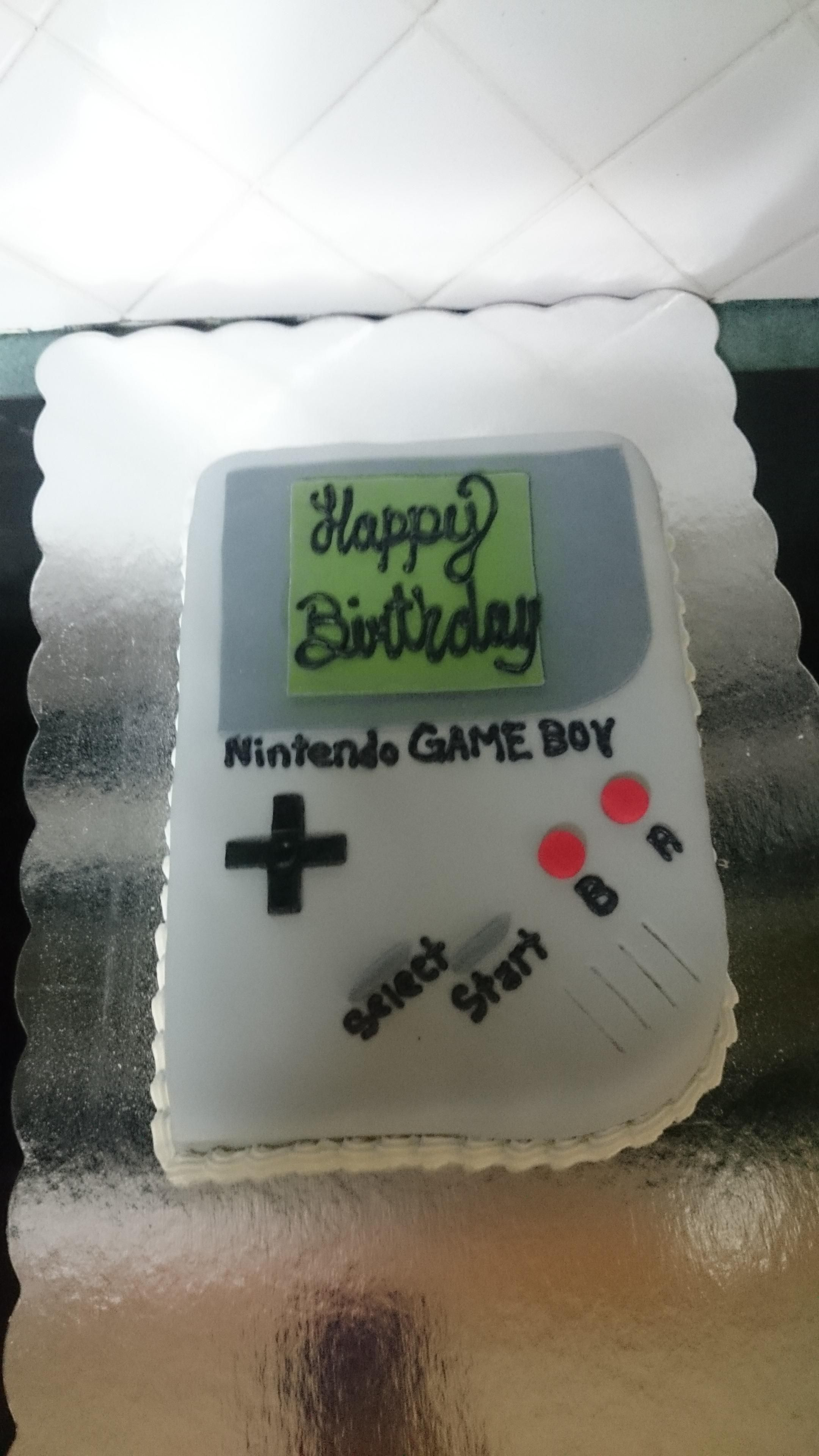 Nintendo Gameboy Cake Video Game Fun Cake Nintendo