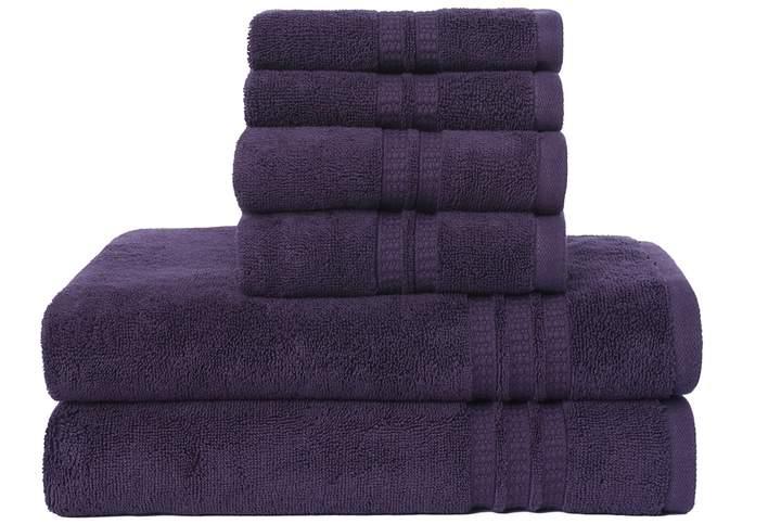 Loft By Loftex Modern Home Trends 6 Piece Bath Towel Set