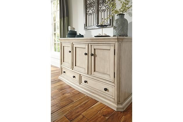Parchment White Demarlos Dining Room Server View 2