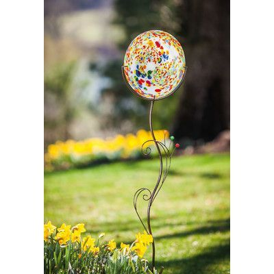 Evergreen Enterprises, Inc ArtfulGarden Hand Blown Speckled Glass Decorative Garden Stake