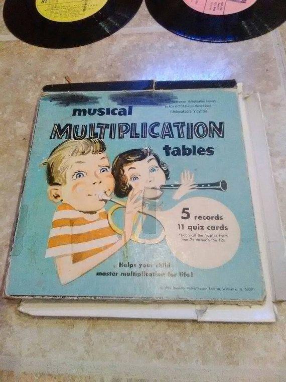 Vintage Musical Multiplication Tables 33 Rpm Vinyl Records Rca