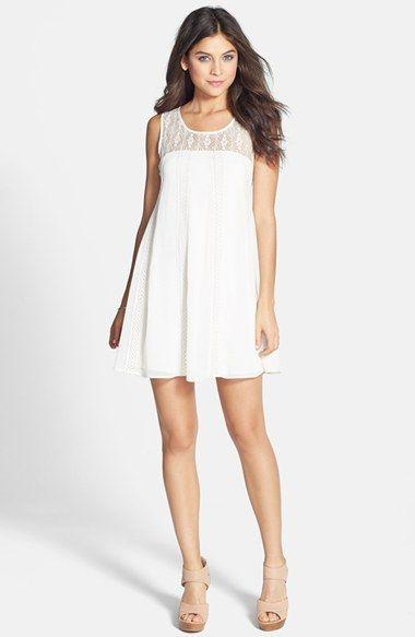 Socialite Lace Panel A-Line Dress (Juniors) | Nordstrom