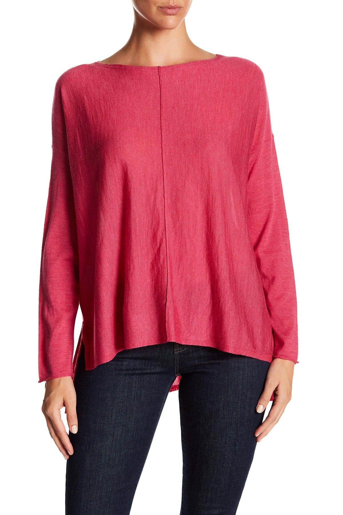 rack bateau product boxy blend fisher nordstrom linen crop eileen shop neck sweater