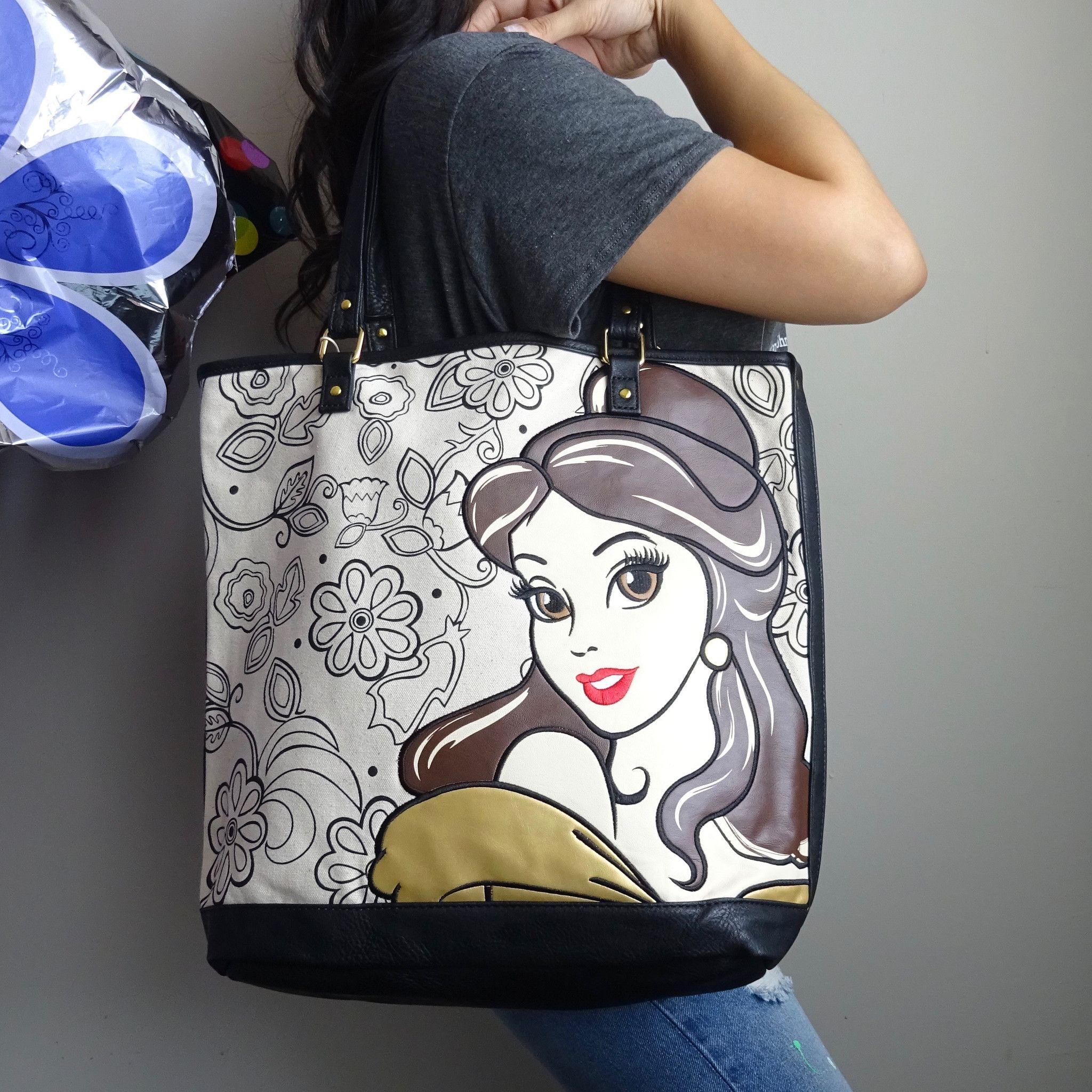 7cc44b47153 Disney's Beauty and the Beast Belle tote bag comes in natural canvas ...