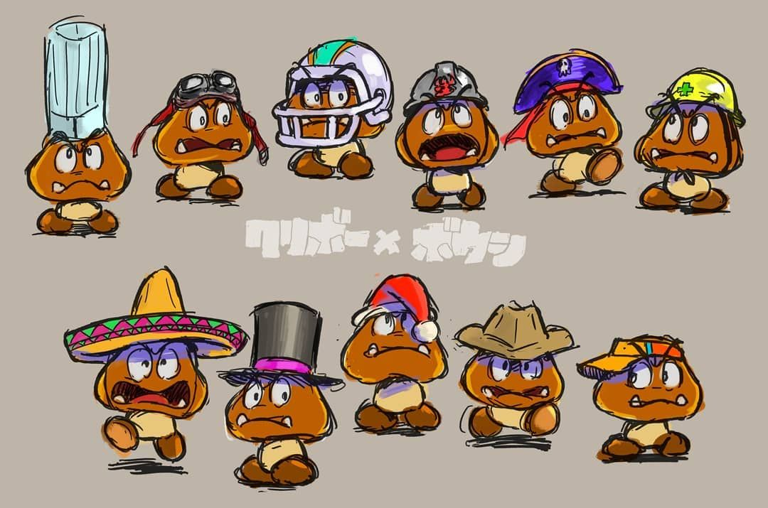 super mario bros movie goomba concept art