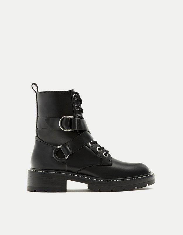 Ital-design - Bottes Style Motard Enfants, Couleur Noire, Taille 33