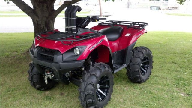 2012 kawasaki brute force 750 4 wheeler aztec red 26 miles for sale in olney il atv. Black Bedroom Furniture Sets. Home Design Ideas
