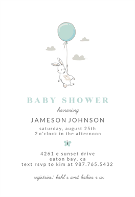bunny shower free baby shower invitation template greetings island