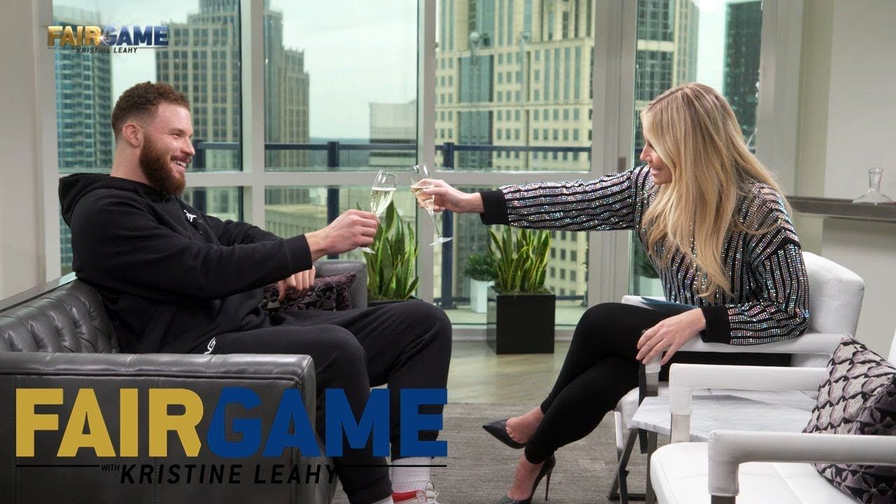 Blake Griffin Roasts Kristine Leahy with a 'Toast' to