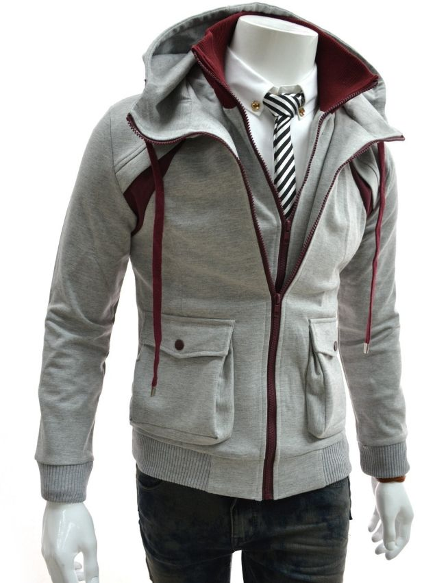 2b2d1cdc58 TheLees Mens Casual Slim Fit Hood Cotton Jacket Assassin s Creed without  being Assassin s Creed