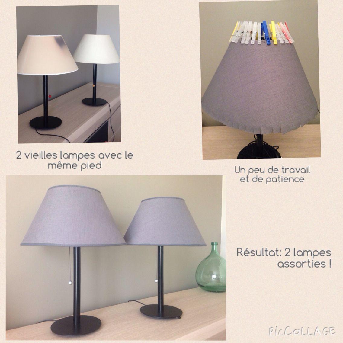 Refaire Un Abat Jour relooking lampes abat jour entièrement refait avec polyphane
