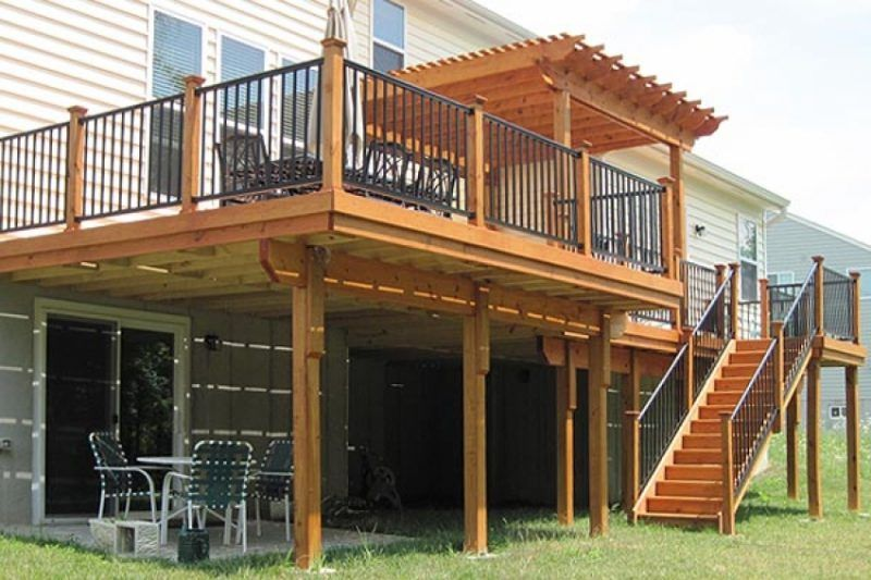 2nd story deck designs decking pinterest decking for How to build a 2nd story deck