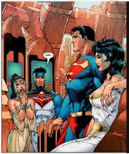 Jor El Et Lara Superman Girl Wonder Woman Comic Superman Wonder Woman