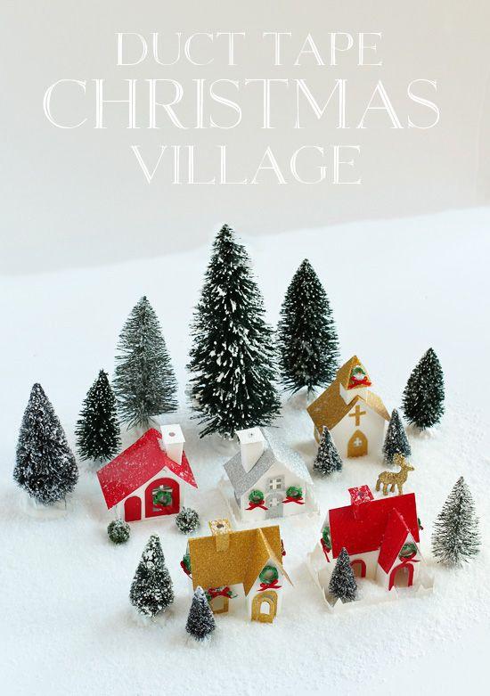 DIY Christmas Village using Duct Tape