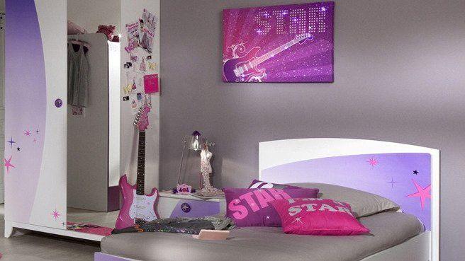 La chambre des jeunes filles s\u0027habille de violet Pinterest