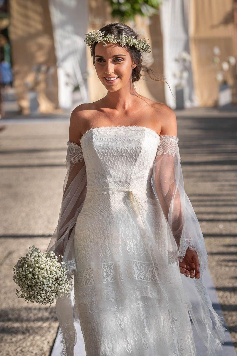 Robe de mariée bohème manches longues | Robe