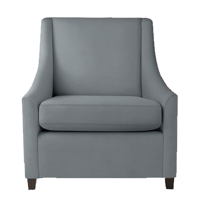 Sweep Armchair, Performance Velvet, Steel Blue - See more at: https://www.decorist.com/finds/101562/sweep-armchair-performance-velvet-steel-blue/