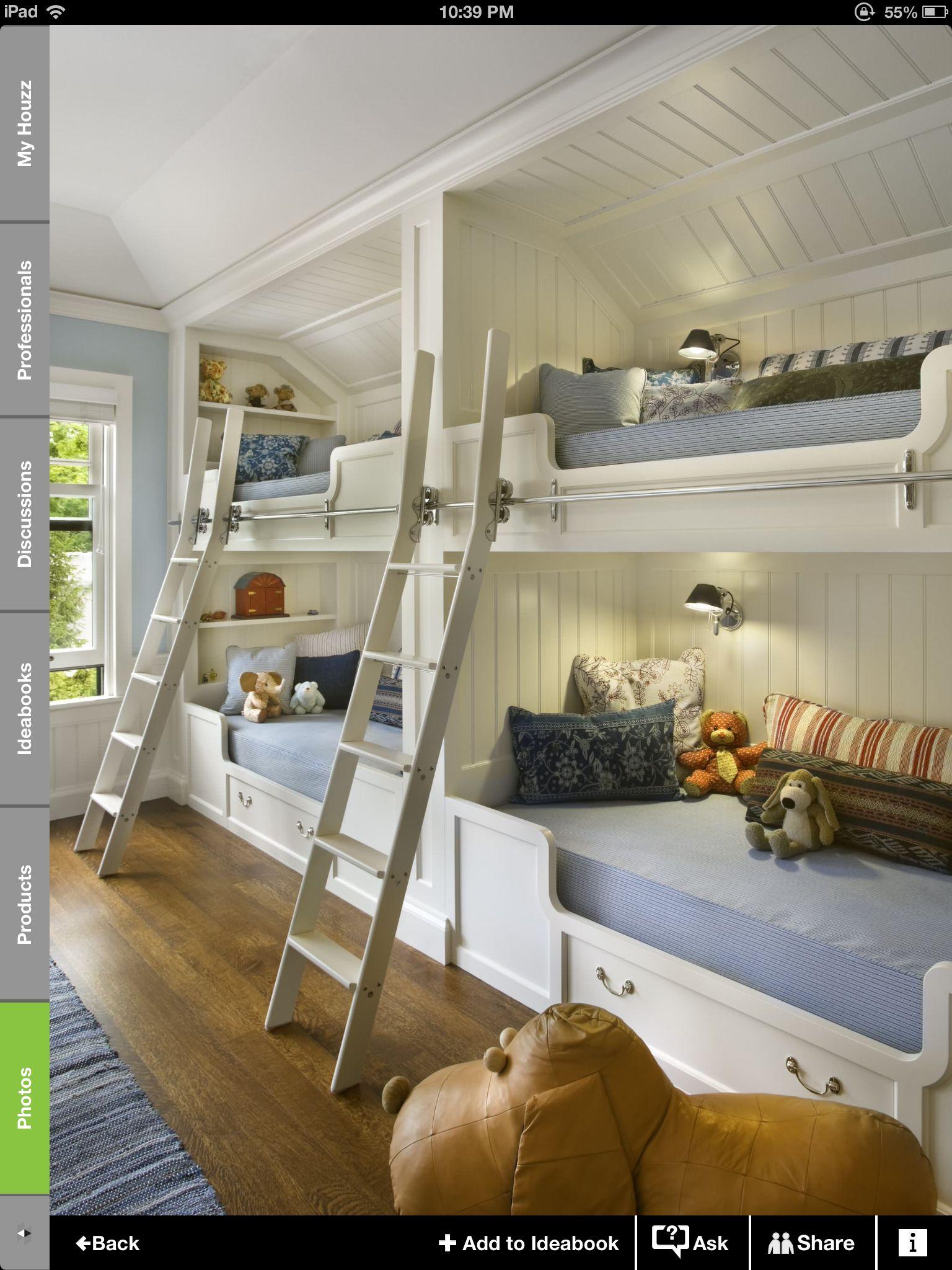 Garage Loft Bunk Beds Built In Sleeping Nook Built In