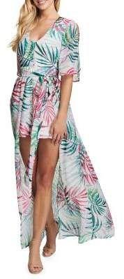 d067f6133f7 Shop for Kensie Dresses Palm Tree-Print Hi-Lo Maxi Dress at ShopStyle.com