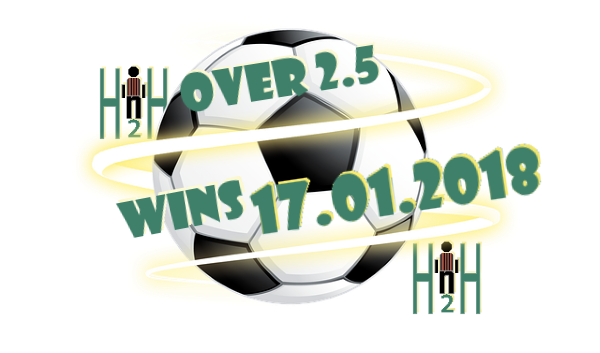 Football Prediction H2H 17 01 2018 | Free soccer predictions