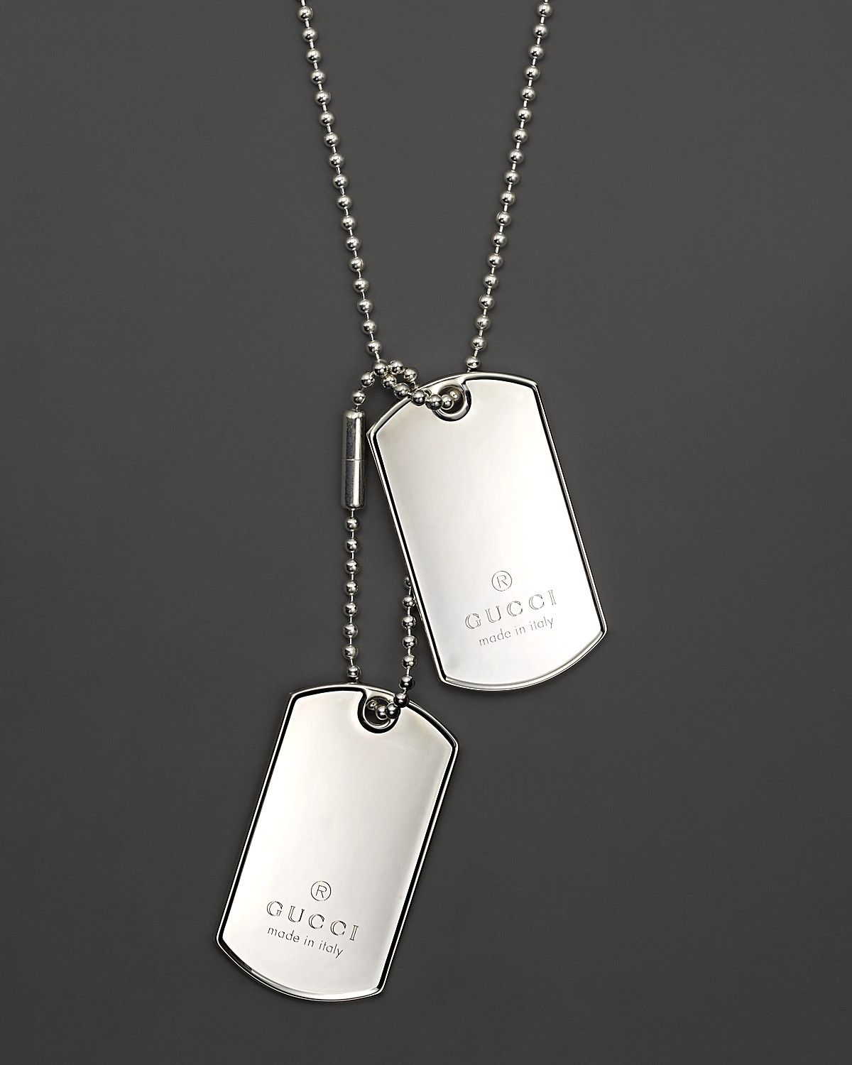 98bb64bae009 Gucci Dogtag Necklace in Sterling Silver, 23