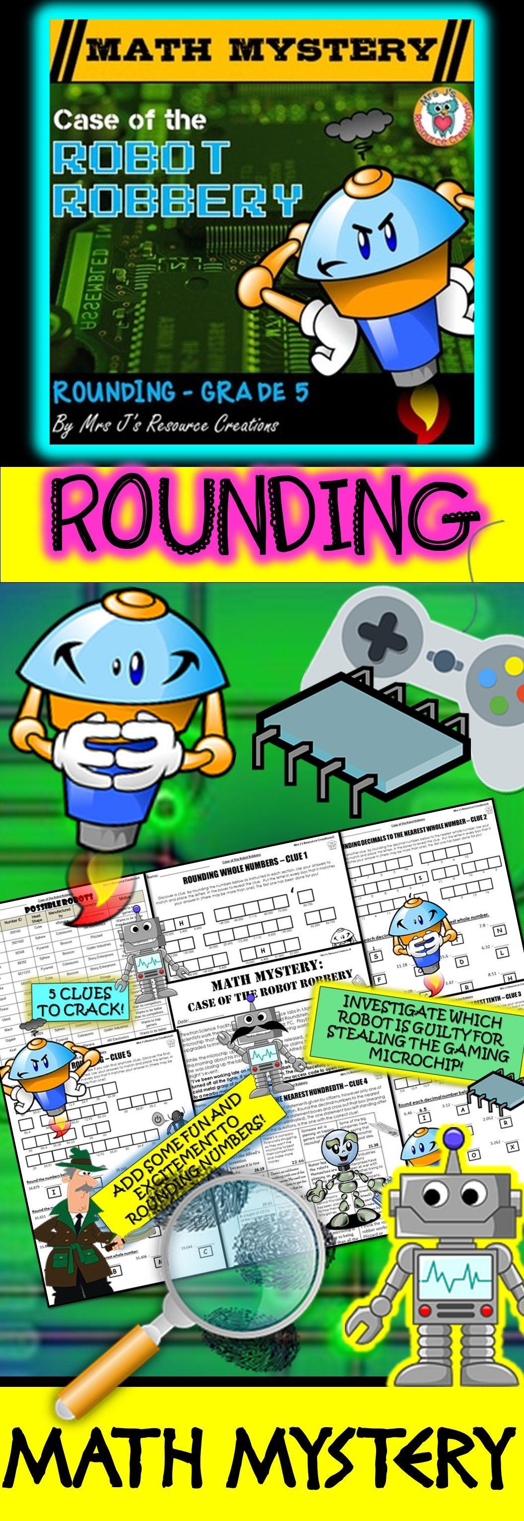 Rounding Decimals Math Mystery Activity Rounding Review
