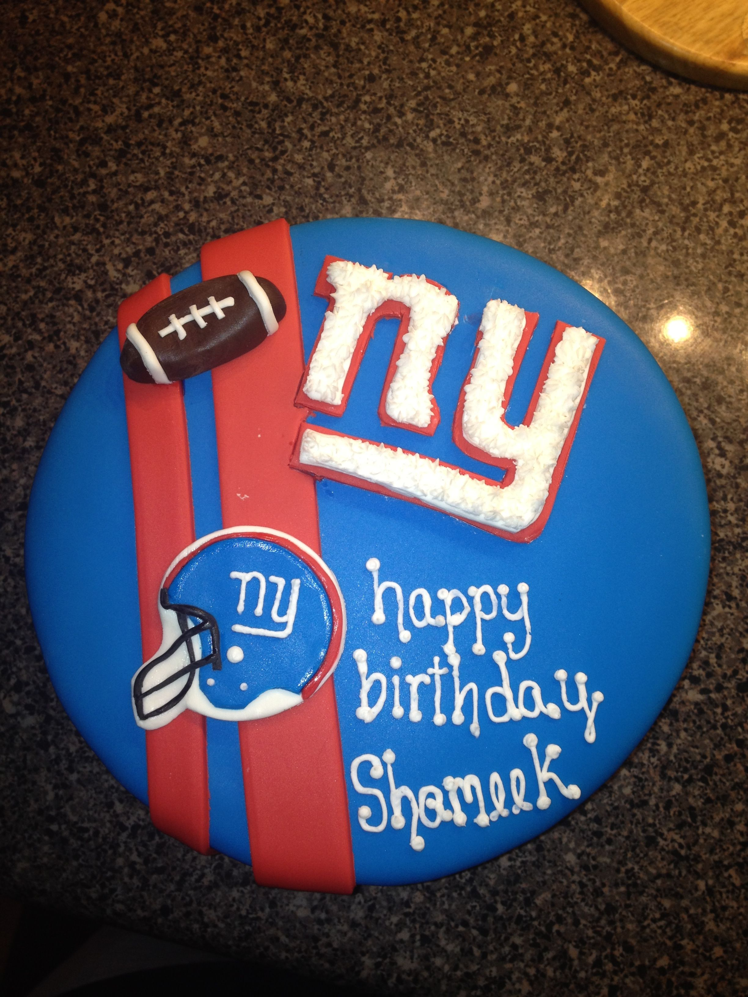 Ny Giants Cake My Cakes Pinterest Ny Giants Cake Giant Cake