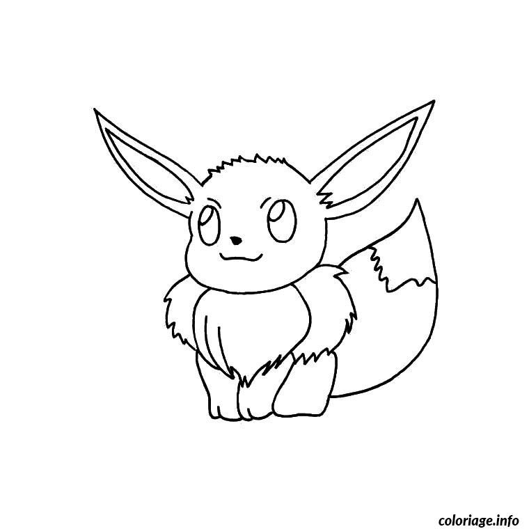 Coloriage Pokemon Evoli Dessin à Imprimer Coloriage
