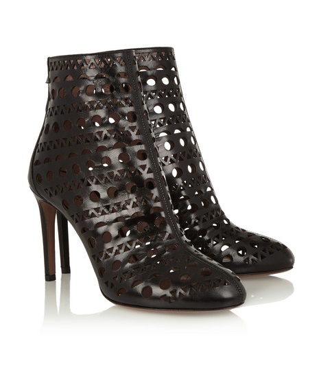 Fashion Week NYC: Alaïa laser-cut leather ankle boots