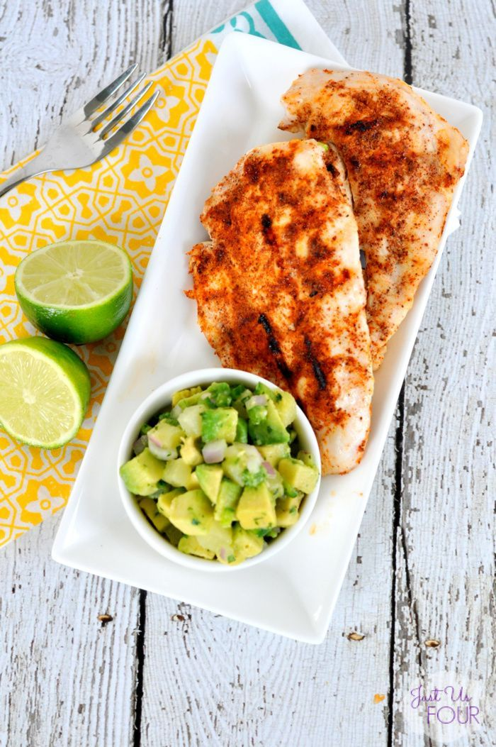 Chipotle chicken with avocado salsa perfect for whole30 and paleo fire up the grill and make this delicious paleo recipe for chipotle chicken with avocado salsa it is the perfect healthy summertime meal for forumfinder Image collections